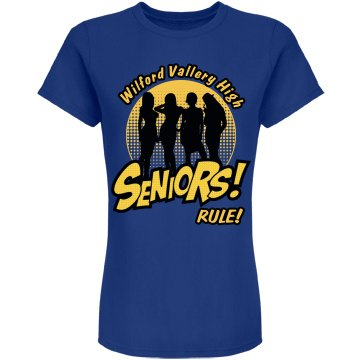 Seniors Rule The World Junior Fit American Apparel Fine Jersey Tee
