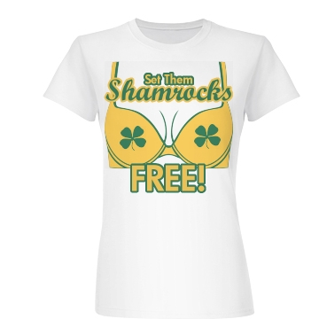 Set Them Shamrocks Free Junior Fit Basic Bella Favorite Tee