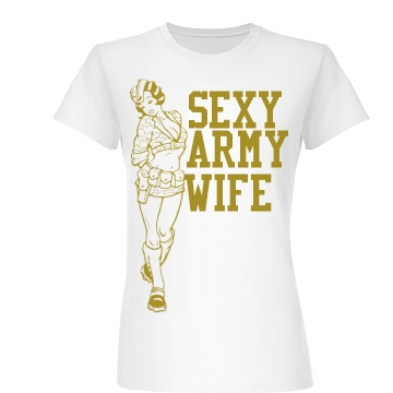 Sexy Army Wife Junior Fit Basic Bella Favorite Tee