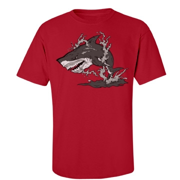 Shark Attack! Unisex Port & Company Essential Tee