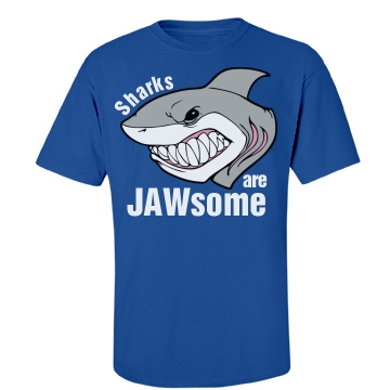 Sharks Are JAWsome Unisex Gildan Heavy Cotton Crew Neck Tee