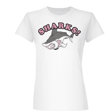 SHARKS! Junior Fit Basic Bella Favorite Tee