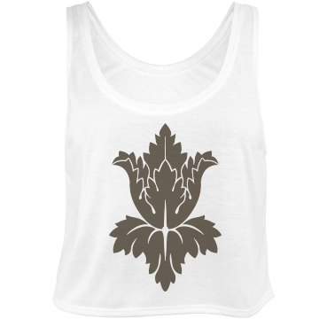 Sherlock Wallpaper Flower Bella Flowy Boxy Lightweight Crop Top Tank Top