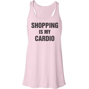 Shopping is My Cardio Bella Flowy Lightweight Racerback Tank Top