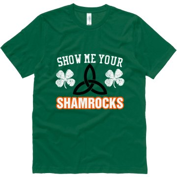 Show Me Your Shamrocks Unisex Canvas Jersey Tee