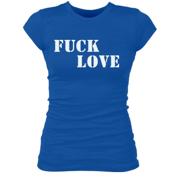 Simple Fuck Love Junior Fit Bella Sheer Longer Length Rib Tee