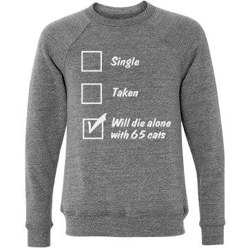 Single, Taken, Cats Unisex Canvas Triblend Cre