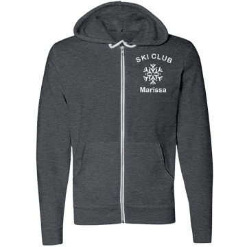 Ski Club Member Unisex Canvas Fleece Full-Zip Hoodie