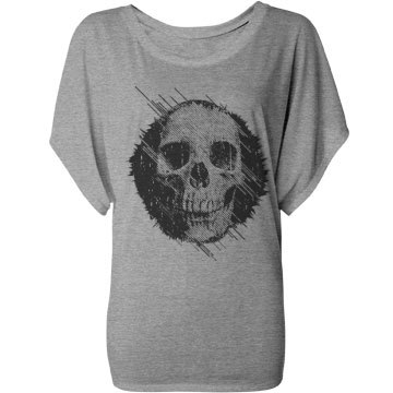 Skull Fashion Top Bella Flowy Lightweight Dra