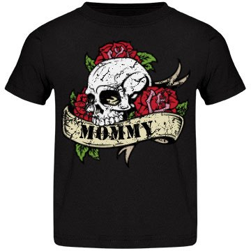 Skull Mommy Distressed