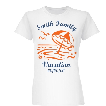 Smith Family Vacation Tee Junior Fit Basic Bella Favorite Tee