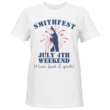 Smithfest Weekend Tee Misses Relaxed Fit Port & Company Basic Tee