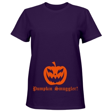 Smuggler Of Pumpkins Misses Relaxed Fit Port & Company Essential Tee