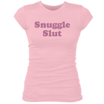 Snuggle Slut Junior Fit Bella Sheer Longer Length Rib Tee