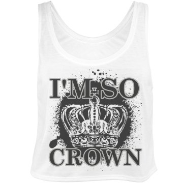 So Crown Bella Flowy Boxy Lightweight Crop Top Tank T