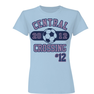 Soccer #12 Junior Fit Basic Bella Favorite Tee