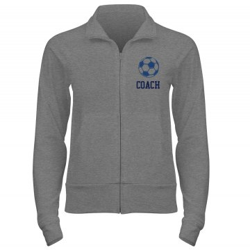 Soccer Coach & Mom  Junior Fit Bella Cadet Full Zip Track Jacket