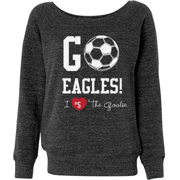 Soccer Fan Sweatshirt Junior Fit Bella T