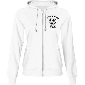 Soccer Mom Junior Fit Bella Fleece Raglan Full Zip Hoodie