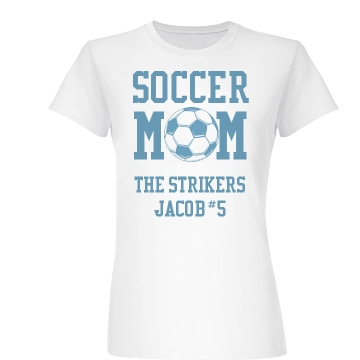 Soccer Mom of Jacob Junior Fit Basic Bella Favorite Tee
