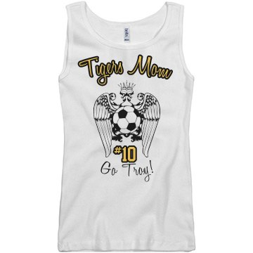 Soccer Mom Tank Junior Fit Basic Bella 2x1 Rib Tank Top