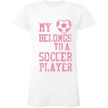 Soccer Player Love Junior Fit LA T Fine Je
