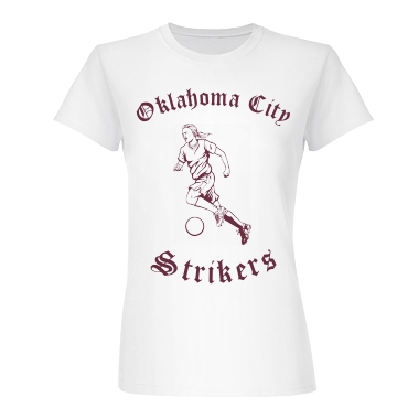 Soccer Team Strikers Junior Fit Basic Bella Favorite Tee