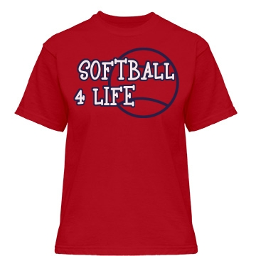 Softball 4 Life Misses Relaxed Fit Gildan Heavy Cotton Tee
