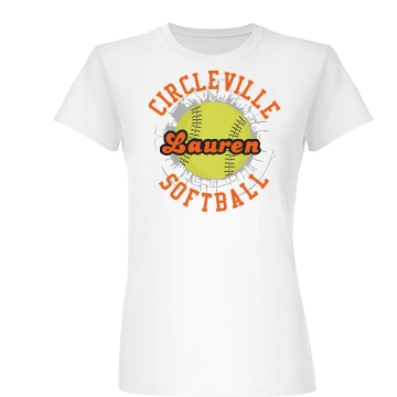 Softball Champs Tee Junior Fit Basic Bella Favorite Tee