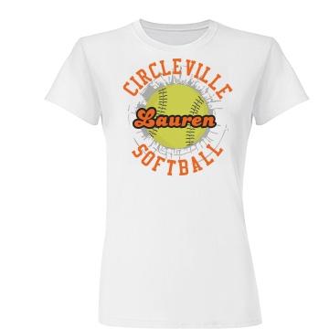 Softball Champs Tee Junior Fit Basic Tultex Fine Jersey Tee