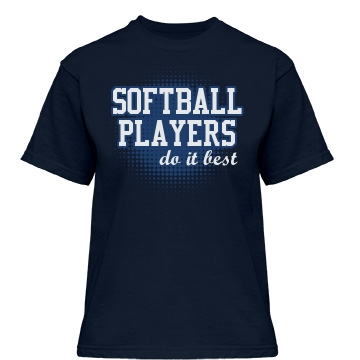 Softball Players Misses Relaxed Fit Gildan Heavy Cotton Tee