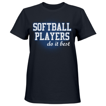 Softball Players Misses Relaxed Fit Port & Company Essential Tee