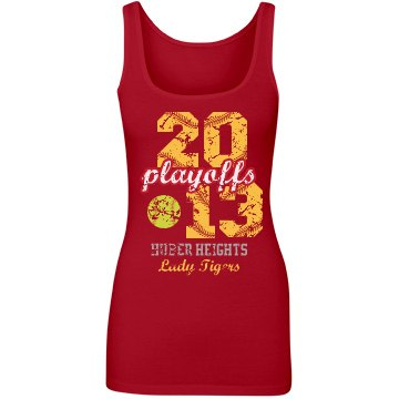 Softball Playoffs Tank Junior Fit Next Level Longer Length Tank Top