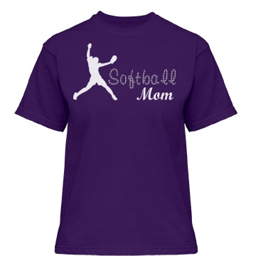 Softball Rhinestone Mom Misses Relaxed Fit Gildan Heavy Cotton