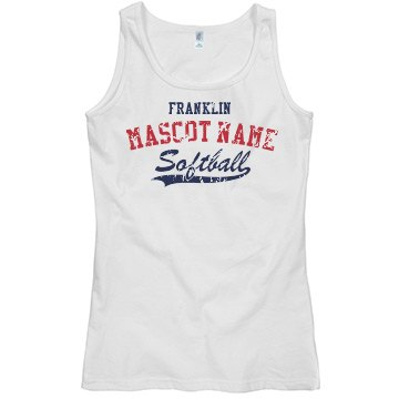 Softball Team Tank Misses Relaxed Fit Basic Gildan Softstyle Tank Top
