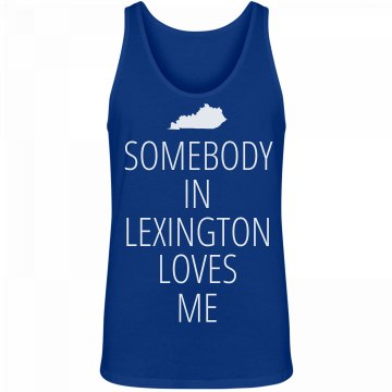 Somebody Loves Me Unisex Canvas Jersey Tank Top
