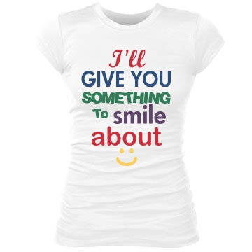 Something To Smile About Junior Fit Bella Sheer Longer Length Rib Tee