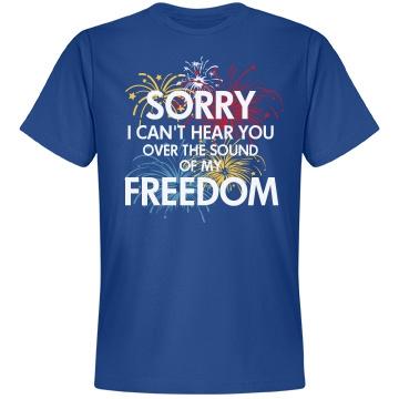 Sound of Freedom USA Unisex Anvil Lightweight Fashion Tee