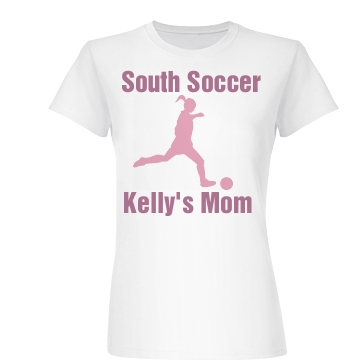 South HS Soccer Mom Junior Fit Basic Bella Favorite Tee