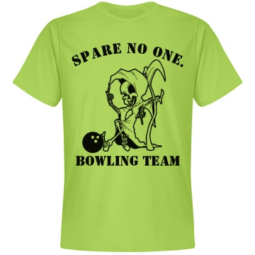 Spare No One Bowling Tee Unisex Anvil Lightweight Fashion Tee