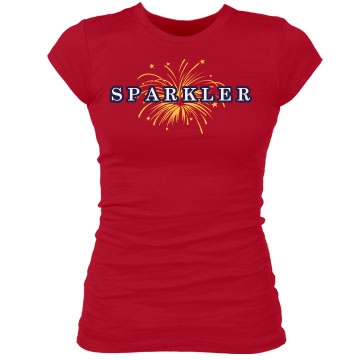 Sparkler Tee Junior Fit Bella Sheer Longer Length Rib Tee