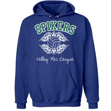 Spikers Volleyball Unisex Hanes Ultimate Cotton Heavyweight Hoodie