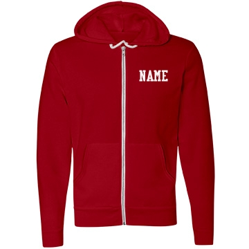 Sports Fan Team Hoodie Unisex Canvas Fleece Full-Zip Hoodie