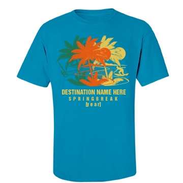 Spring Break Add Year Tee Unisex Gildan Heavy Cotton Crew Neck Tee