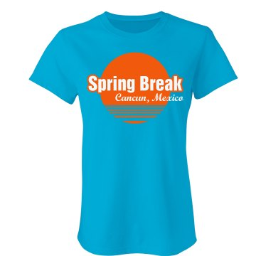 Spring Break Cancun Junior Fit Bella Favorite Tee