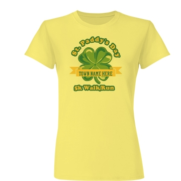 St. Paddy's Day Race Junior Fit Basic Bella Favorite Tee