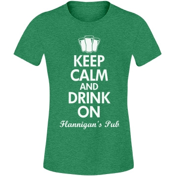 St. Patrick's Calm Pub Misses Relaxed Fit Anvil Lightweight Fashion Tee