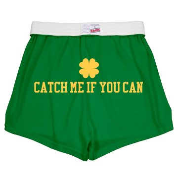 St. Patrick's Catch Me Junior Fit Soffe Cheer Shorts