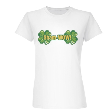 St. Patrick's Shamwow Junior Fit Basic Bella Favorite Tee