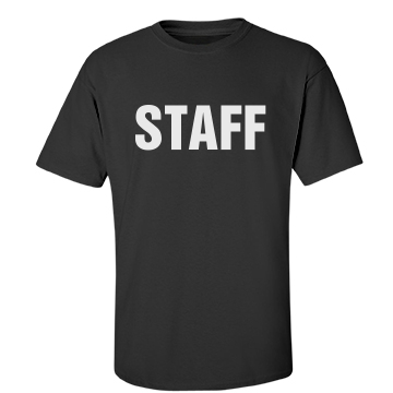 Staff Tee w/ Back Unisex Gildan Heavy Cotton Crew Neck Tee